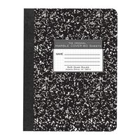 Composition Book - Black Marble Quad Ruled 80 shts (physics lab)