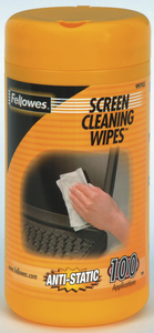 Fellowes Anti-Static Screen Cleaning Wipes 100ct