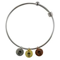 Bangle with 3 lantern charms