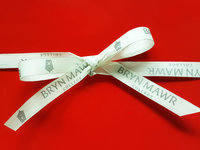 "Cream City Ribbon - 1/2"" wide x 10 yds Imprinted"