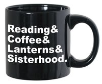 "Cafe Mug - ""Reading&Coffee&Lanterns&Sisterhood"""
