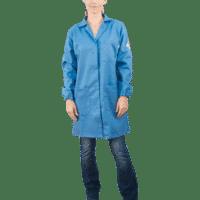 Westex Indura 30 Snap Front Blue Labcoat