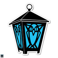 "Lantern Auto Magnet - 3"""