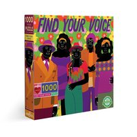 eeBoo 1000pc Square Puzzle - Finding Your Voice