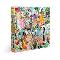 eeBoo 1000pc Square Puzzle - Poet's Garden