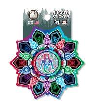 """Rugged Sticker - 3"""" Bryn Mawr Kaleidoscope"""