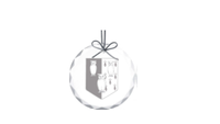 Healy Glass Art Ornament with College Shield