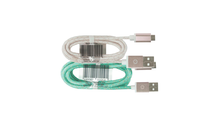 1M Micro-USB to USB Cable in Rose Gold w/ Mint or White