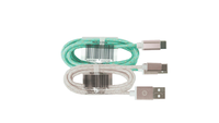 1M USBC to USB Cable Rose Gold w/ Mint or White
