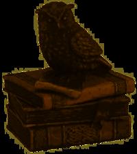 Veronese Collared Scopes Owl on Books Trinket Box