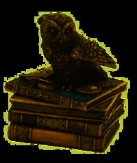 Veronese Snow Owl Flap Wings on Books Trinket Box