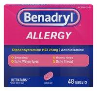 Benadryl Allergy 48 Tablets
