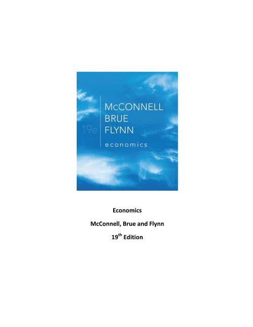 Economics: principles, problems, and policies by campbell r.